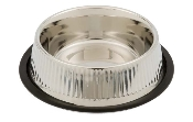 stainless embossed dog bowl
