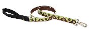 Brown and Green Paw Pattern Leash