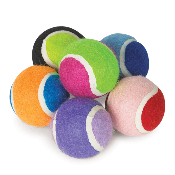colorful miniature dog tennis balls