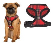 Tartan Pattern Dog Harness