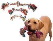 Colorful Knotted Dog Chewing Rope