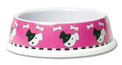 Pink Plastic Dog Bowl