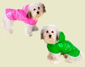 hooded dog raincoat - waterproof dog rain licker