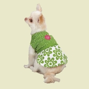 Floral Polkadot Dog Dress