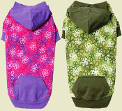 Floral Hooded Dog Sweatshirt