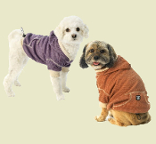 thermal heathered dog hoodie