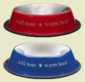 Cold Nose Warm Heart Stainless Bowl