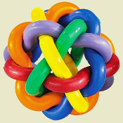 colorful rubber chew ball