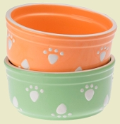 Pastel Paws Peach or Kiwi 7 INCH Bowl