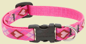Lupine Pink Argyle Dog Collar