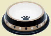 Paw Design Plastic Dog Bowl