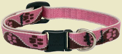 Brown and Pink Paw Collar