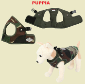 camouflage vest dog harness