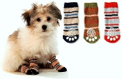 striped non-skid dog socks