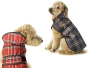 Red or Blue plaid dog coats
