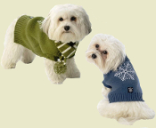snowflake dog sweater and scarf