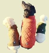 tweed cable knit dog sweater