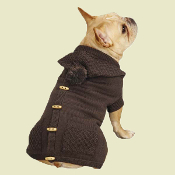 brown toggle dog sweater