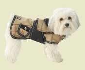 plaid tan dog coat
