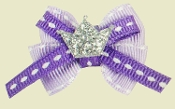purple dog bows