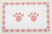 Pink Pet Paws Placemat