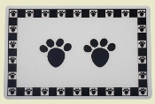 paw print dog placemat
